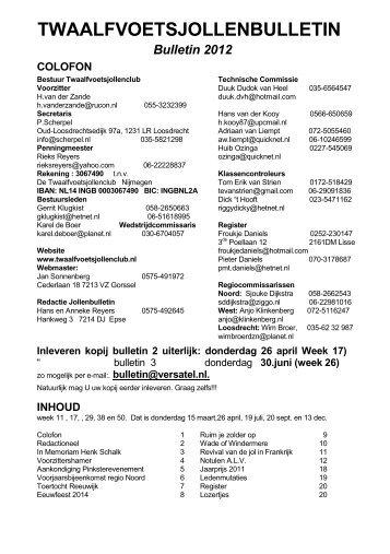 bulletin 2012/1 - De Twaalfvoetsjollenclub