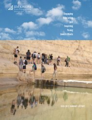 Full Summary Report - Jim Joseph Foundation