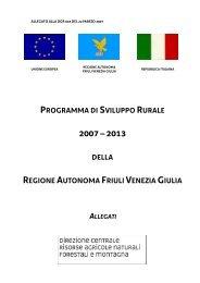 Allegati al programma di sviluppo rurale - Università IUAV di Venezia