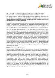 Internationale ERP-Systeme für KMU - ISYCON GmbH