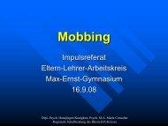 Mobbing - Max Ernst Gymnasium