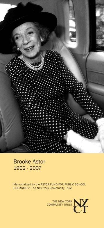 Brooke Astor - The New York Community Trust