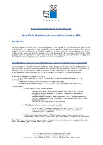 Lire - Autisme France