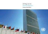 60 Wege wie die Vereinten Nationen etwas bewirken - Unric