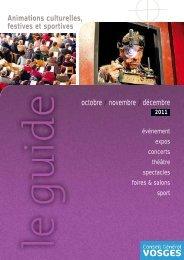 Animations culturelles, festives et sportives octobre ... - Vosges