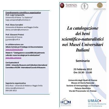Firenze 23-02-2012 - Museo di Storia Naturale - Università degli ...