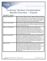 Customer WC Benefit Overview (Rev.11-09) - Travelers Insurance