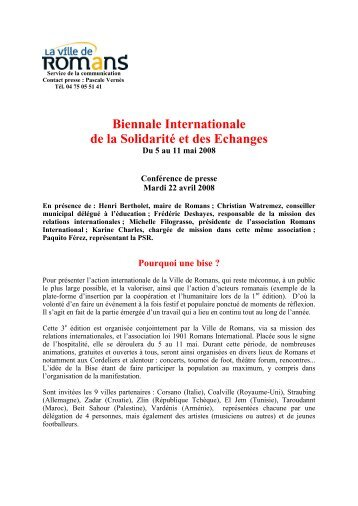 Biennale Internationale de la Solidarité et des Echanges - Resacoop