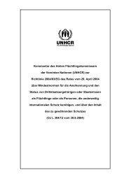 Analyse zur Qualifikations- bzw. Statusrichtlinie (inkl ... - unhcr