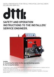 safety and operation instructions to the installer - Termomont