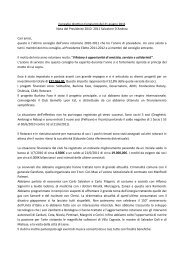 Consiglio direttivo Congiunto del 21 giugno 2011 Nota del ...