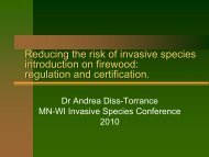Reducing the Risk of Invasive Species Introduction on Firewood