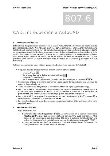 Introducción al diseño asistido por ordenador, AutoCAD