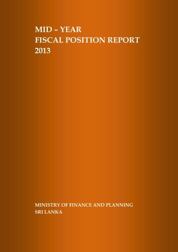 mid – year fiscal position report 2013 - Ministry of Finance and ...