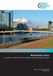 Mental Health in Focus. A Profile - Glasgow Centre for Population ...
