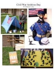Civil War Archives Day