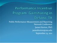 Performance Incentive Program: Gainsharing in Desoto, TX - ppmrn