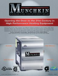 High Efficiency Reliability Durability Quiet ... - Munchkin Boilers