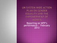 UN System-Wide Action Plan on Gender Equality and the ...