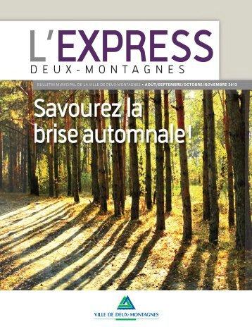 l'Express d'Août-Novembre 2013 - Ville de Deux-Montagnes