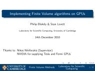Implementing Finite Volume algorithms on GPUs - many-core.group ...