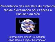 Présentation des résultats du protocole rapide d'évaluation ... - ReMeD