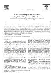 Robust capacitive pressure sensor array - Mems.gatech.edu ...