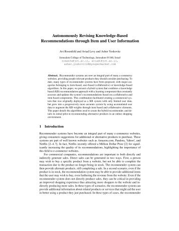 Autonomously Revising Knowledge-Based Recommendations ...