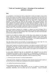 Visite au Consulat de France : chronique d'un cauchemar ... - CLARA