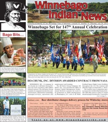07-20-13 - Winnebago Tribe of Nebraska