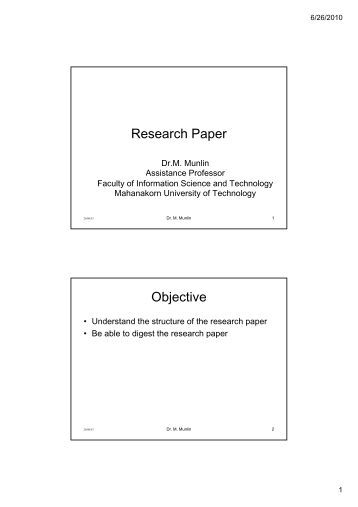objective response research paper A short paper written in response to a viewing of alfred hitchcock's  even when your paper is not a research paper you will be expected to introduce your argument .