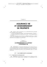 ASSURANCE VIE ET DE´MEMBREMENT DE ... - LexisNexis