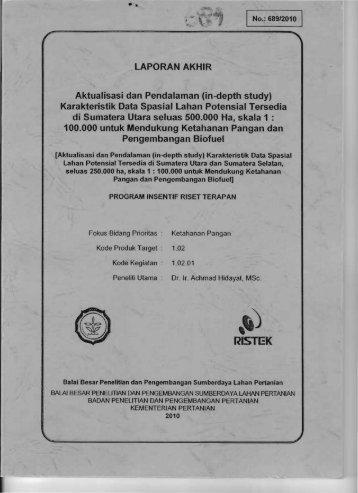 lAPORAN AKHIR Aktualisasi dan Pendalaman (in-depth ... - KM Ristek