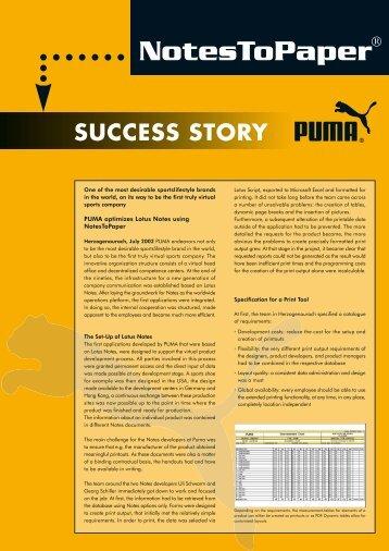 Success Story PUMA - SoftVision Development