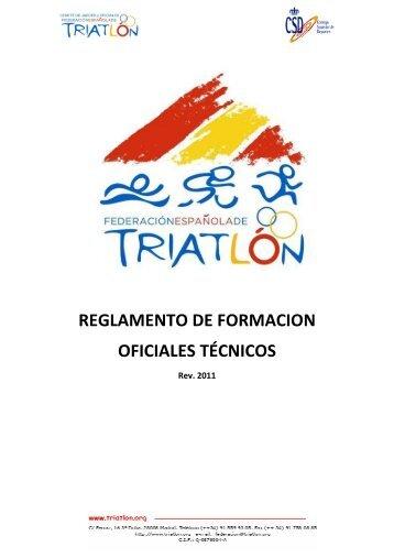 2011 Reglamento de Formacion Oficiales FETRI(1).pdf - Federación ...