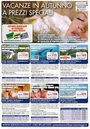 vacanze in autunno a prezzi speciali - Servizio Viaggi Home Page
