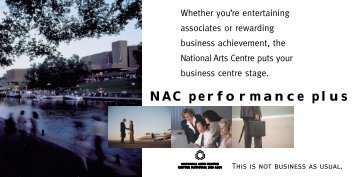 NAC performance plus - National Arts Centre