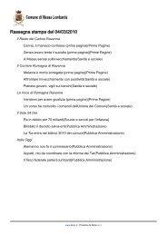 rassegna stampa del 04 marzo 2010 - Comune di Massa Lombarda