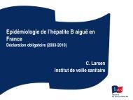 Epidémiologie de l'hépatite B aiguë en France. Epidemiology ... - Afef