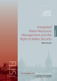 Integrated Water Resources Management and the Right to Water ...