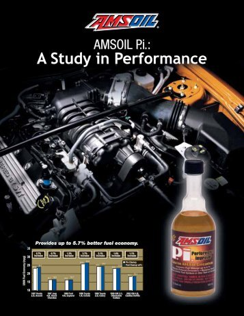 AMSOIL P.i. - A Study in Performance (G2543) - Synthetic Motor Oil