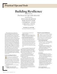 Building Resilience - Center for Adoption Studies