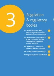Section Three - Regulation and regulatory bodies - Action in Rural ...