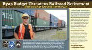 Ryan Budget Threatens Railroad Retirement - Brotherhood of ...
