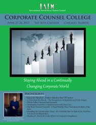 Corporate Counsel College - International Association of Defense ...
