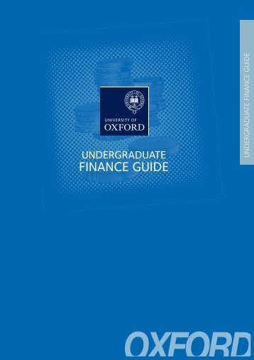Undergraduate Finance Guide - University of Oxford