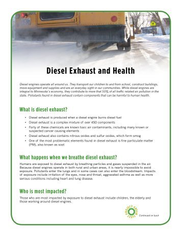Diesel Exhaust and Health - Clean Energy Resource Teams