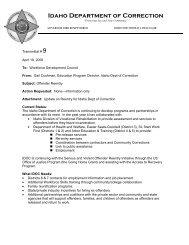 David Williams vs  Idaho Department of Correction IPC #08-25