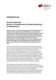 Die Zukunft beginnt jetzt: Besucher - Presse - DHBW Mannheim