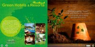 "Thailand is going ""Green"". Visit and explore the country's eco ..."